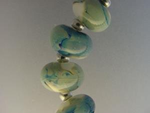 Detail Image for art BG Morrow LAMPWORK Handmade Glass Art 12 Beads D200 SRA
