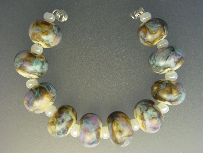 Art: BG Morrow LAMPWORK Handmade Glass Art 10 Beads D59 SRA by Artist Bonnie G Morrow