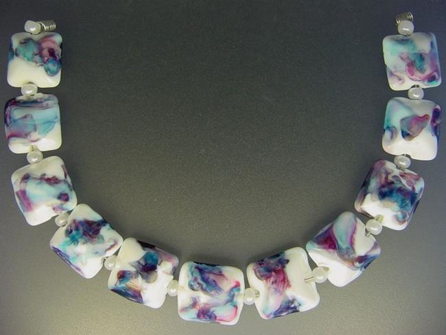 Art: BG Morrow LAMPWORK Handmade Glass Art 11 Beads D57 SRA by Artist Bonnie G Morrow
