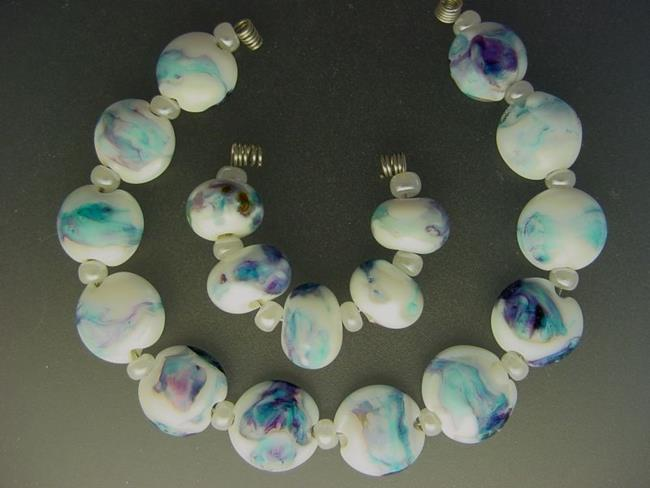 Art: BG Morrow LAMPWORK Handmade Glass Art 17 Beads D113 SRA by Artist Bonnie G Morrow