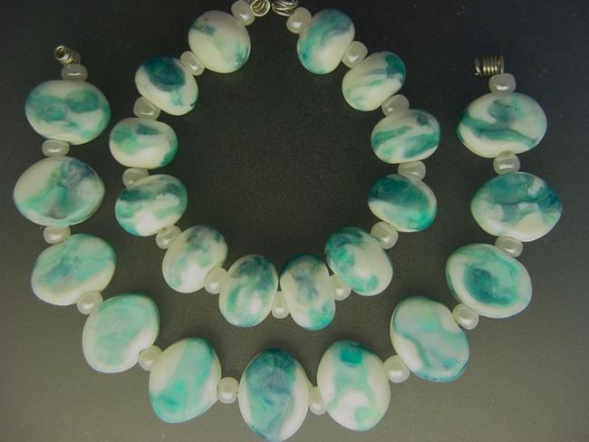 Art: BG Morrow LAMPWORK Handmade Glass Art 23 Beads D111 SRA by Artist Bonnie G Morrow