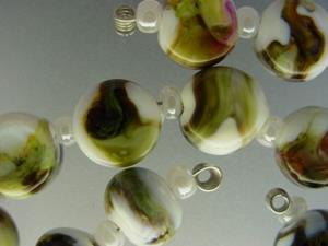 Detail Image for art BG Morrow LAMPWORK Handmade Glass Art 28 Beads D109 SRA
