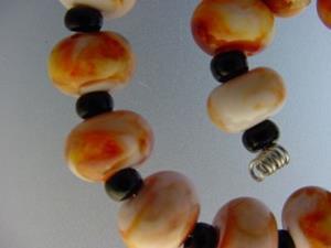 Detail Image for art BG Morrow LAMPWORK Handmade Glass Art 15 Beads D186 SRA