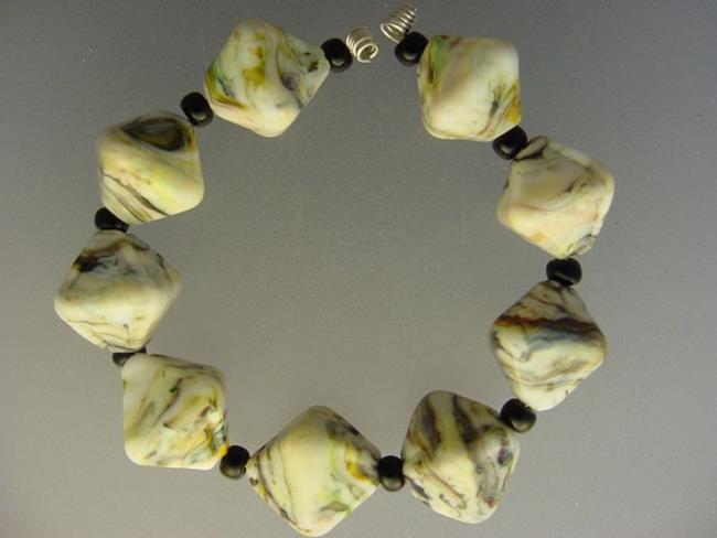Art: BG Morrow LAMPWORK Handmade Glass Art 9 Beads D222 SRA  by Artist Bonnie G Morrow