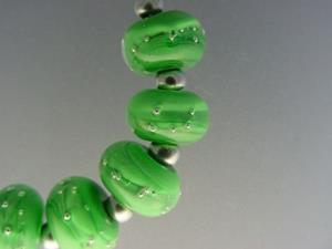 Detail Image for art BG Morrow LAMPWORK Handmade 12mm Glass 9 Beads D209 SRA