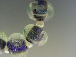Detail Image for art BG Morrow LAMPWORK Handmade Glass Art 6 Beads D96 SRA