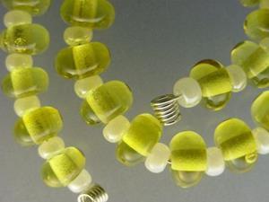 Detail Image for art BG Morrow LAMPWORK Handmade Glass Art 30 Beads D52 SRA