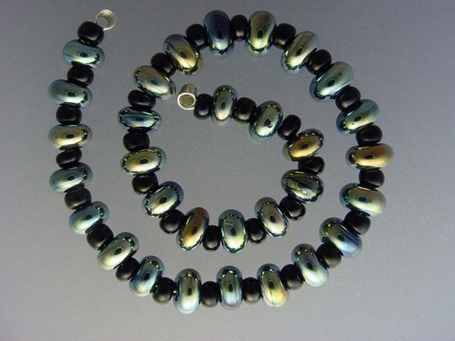 Art: BG Morrow LAMPWORK Handmade Glass Art 31 Beads D264 SRA  by Artist Bonnie G Morrow