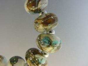 Detail Image for art BG Morrow LAMPWORK Handmade Glass Art 10 Beads D199 SRA