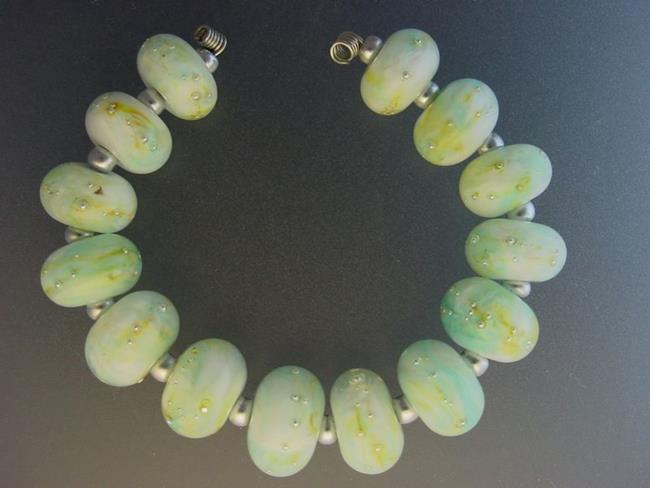 Art: BG Morrow LAMPWORK Handmade Glass Art 14 Beads D197 SRA by Artist Bonnie G Morrow