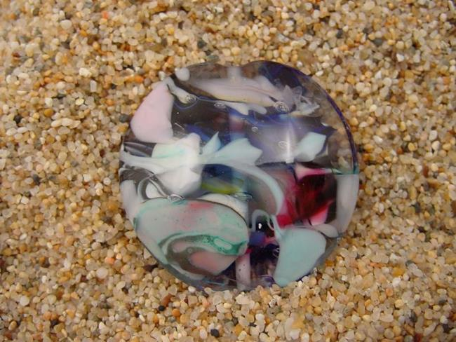 Art: Ambrosia Glass *WINDY DAY* Handmade Lampwork FOCAL Bead - SOLD by Artist Bonnie G Morrow