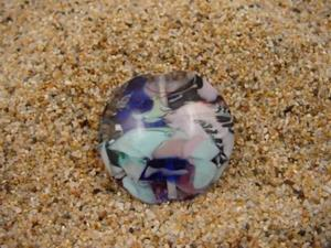 Detail Image for art Ambrosia Glass *WINDY DAY* Handmade Lampwork FOCAL Bead - SOLD
