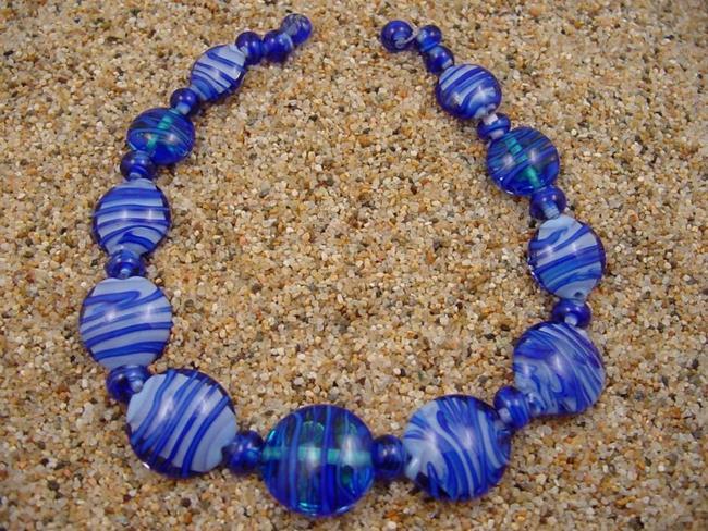 Art: Ambrosia Glass *DRIFTING* Handmade Lampwork Beads - SOLD by Artist Bonnie G Morrow