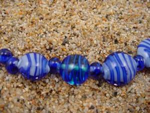 Detail Image for art Ambrosia Glass *DRIFTING* Handmade Lampwork Beads - SOLD