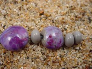Detail Image for art Ambrosia Glass *PURPLE RAIN* Handmade Lampwork Beads - SOLD
