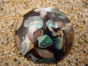 Detail Image for art Ambrosia Glass *MYRTLE WOOD* Handmade Lampwork FOCAL Bead - SOLD