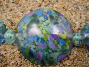 Detail Image for art Ambrosia Glass *SPRING SKY* Handmade Lampwork Beads - SOLD