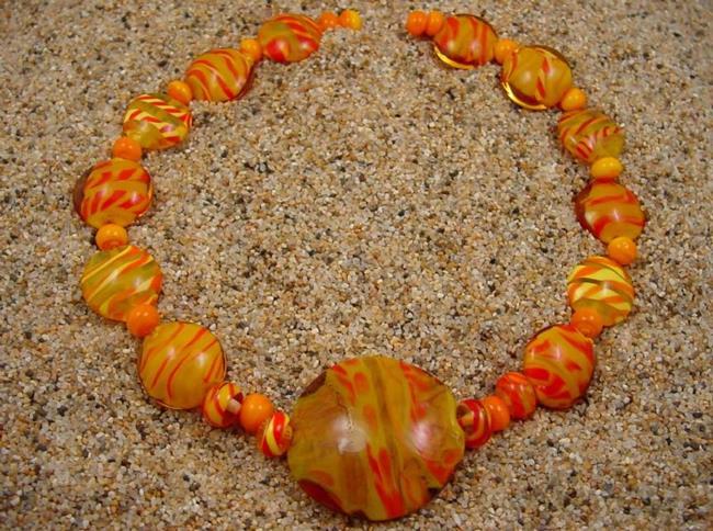 Art: Ambrosia Glass *SUMMER SUN* Handmade Lampwork Beads - SOLD by Artist Bonnie G Morrow
