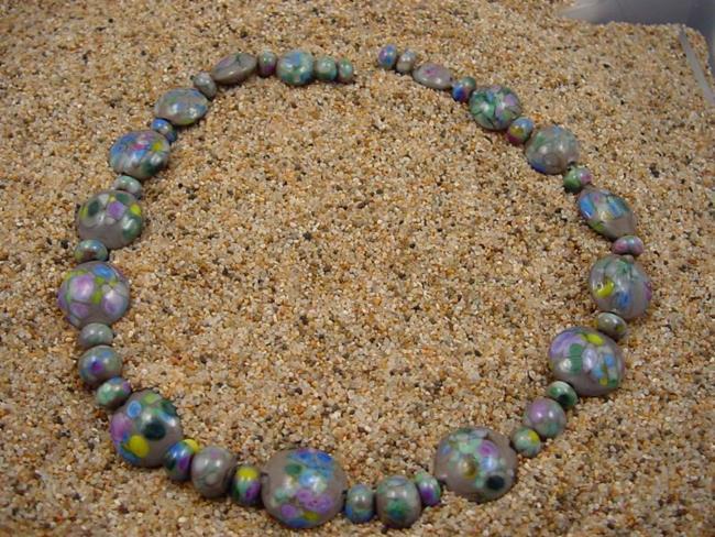 Art: Ambrosia Glass *APRIL SHOWERS* Handmade Lampwork Beads - SOLD by Artist Bonnie G Morrow