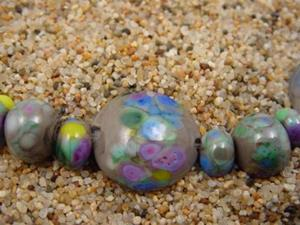 Detail Image for art Ambrosia Glass *APRIL SHOWERS* Handmade Lampwork Beads - SOLD