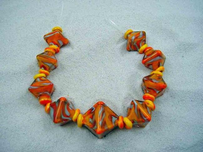 Art: Ambrosia Glass *Leslie Commission* Handmade Lampwork Beads - SOLD by Artist Bonnie G Morrow