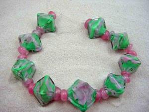 Detail Image for art Ambrosia Glass *Leslie Commission* Handmade Lampwork Beads - SOLD