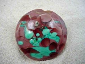 Detail Image for art Ambrosia Glass *RASPBERRY SMOOTHY* Handmade Lampwork FOCAL Bead - SOLD