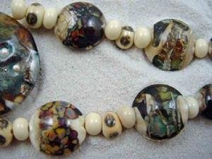 Detail Image for art Ambrosia Glass *BEACH COMBING* Handmade Lampwork 31 Beads - SOLD