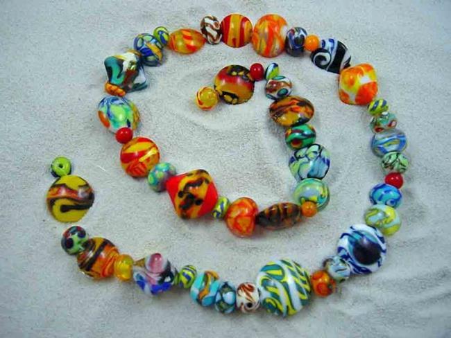 Art: Ambrosia Glass *BRIGHT ORPHANS* Handmade Lampwork 50 Beads - SOLD by Artist Bonnie G Morrow