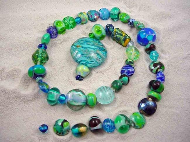 Art: Ambrosia Glass *ORPHANS* Handmade Lampwork 50 Beads - SOLD by Artist Bonnie G Morrow