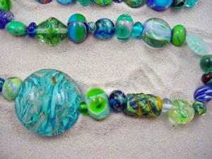 Detail Image for art Ambrosia Glass *ORPHANS* Handmade Lampwork 50 Beads - SOLD