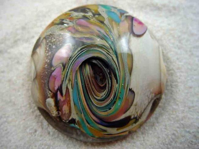 Art: Ambrosia Glass *MAY DAY* Handmade Lampwork FOCAL Bead - SOLD by Artist Bonnie G Morrow