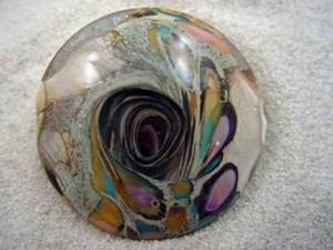 Detail Image for art Ambrosia Glass *MAY DAY* Handmade Lampwork FOCAL Bead - SOLD