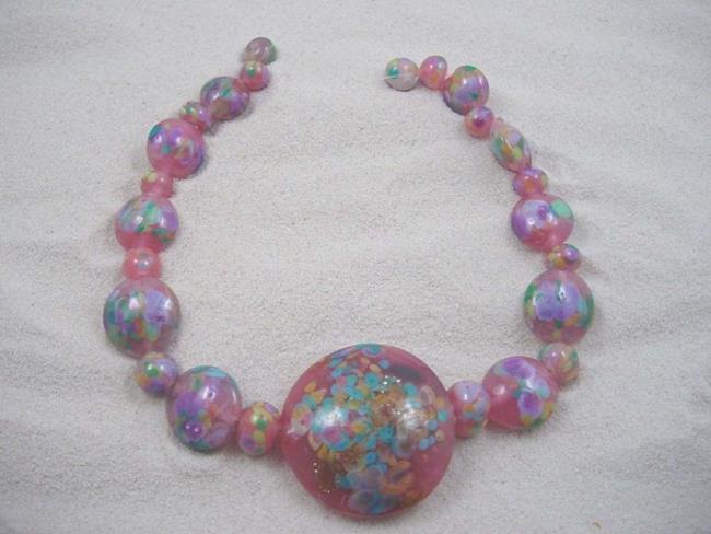 Art: Ambrosia Glass *SWEET PINKS* Handmade Lampwork 25 Beads - SOLD by Artist Bonnie G Morrow