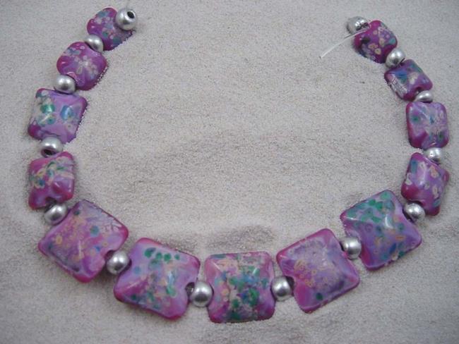 Art: Ambrosia Glass *LILAC PILLOWS* Handmade Lampwork 13 Beads - SOLD by Artist Bonnie G Morrow