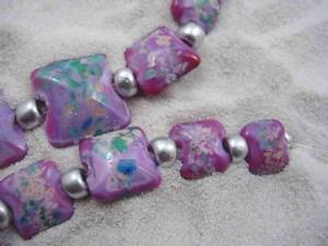 Detail Image for art Ambrosia Glass *LILAC PILLOWS* Handmade Lampwork 13 Beads - SOLD