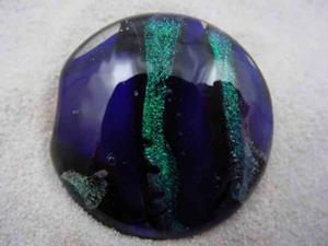 Detail Image for art Ambrosia Glass *GREEN RIVER* Handmade Lampwork FOCAL Bead - SOLD