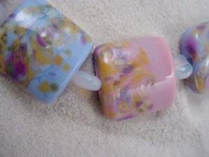 Detail Image for art Ambrosia Arts *SWEET SUNDAY* Lampwork 7 Beads Handmade - SOLD