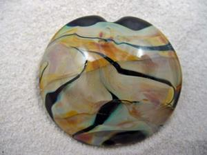 Detail Image for art Ambrosia *TERRA TWIRLS* Handmade Lampwork FOCAL Bead - sold