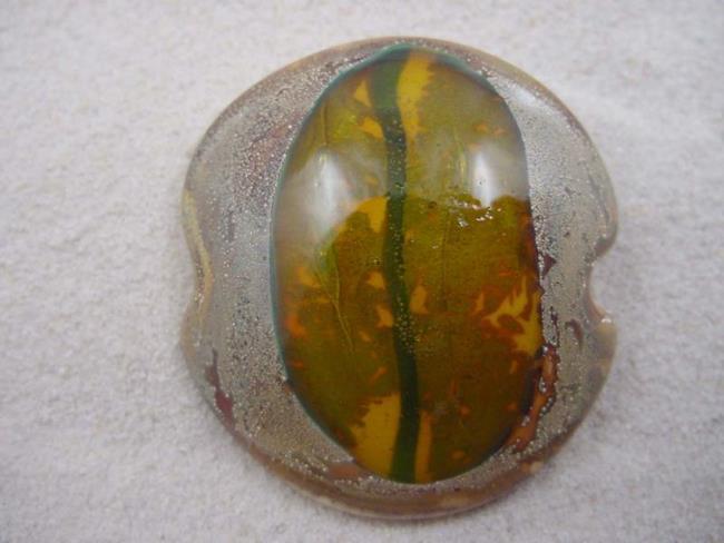 Art: Ambrosia *GOLDEN EYE* Handmade Lampwork FOCAL Bead - SOLD by Artist Bonnie G Morrow