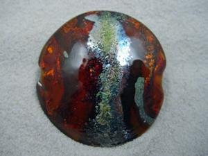 Detail Image for art Ambrosia *AMBER WAVES* Handmade Lampwork FOCAL Bead