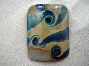Detail Image for art Ambrosia *GOLD RUSH* Handmade Lampwork FOCAL Bead - SOLD