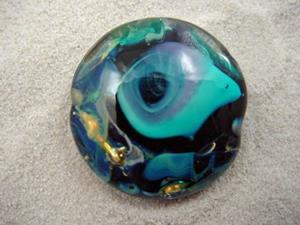 Detail Image for art Ambrosia *STORMS WITHIN* Handmade Lampwork FOCAL Bead - SOLD