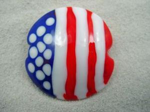 Detail Image for art Ambrosia *AMERICAN FLAG* Handmade Lampwork FOCAL Bead - SOLD