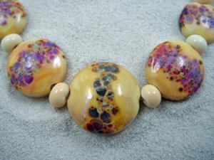 Detail Image for art Ambrosia Arts *GOLDEN SPREES* Lampwork 16 Beads Handmade - SOLD