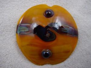 Detail Image for art Ambrosia *SUNNY TWIST FOCAL* Handmade Lampwork FOCAL Bead - SOLD