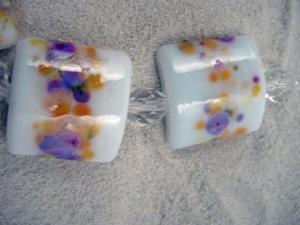 Detail Image for art Ambrosia Arts *SPRING BLOOM* Lampwork 7 Beads Handmade - SOLD