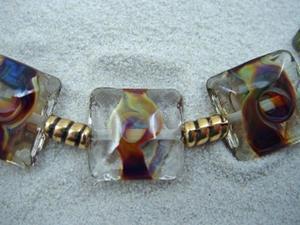 Detail Image for art Ambrosia Arts *TERRA ORBS* Lampwork 7 Beads Handmade - SOLD