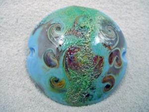 Detail Image for art Ambrosia *TERRA SPINS* Handmade Lampwork FOCAL Bead