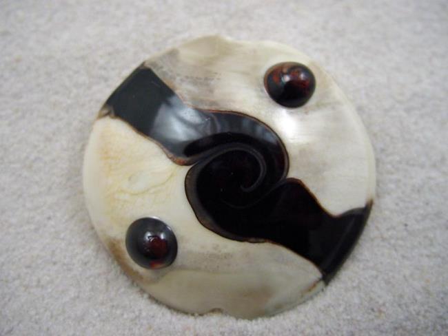 Art: Ambrosia *DARK ORBS* Handmade Lampwork FOCAL Bead - SOLD by Artist Bonnie G Morrow